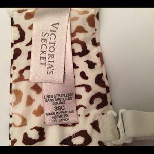 Victoria's Secret Intimates & Sleepwear - Victoria Secret Strapless Leopard Print Bra 38 C